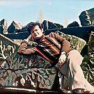 Me ! Andrew Brown Sugar -  Relax at the Hellenistic fortress of GARNI. ARMENIA. Anno Domini 1979. tribute Bino - Mama Leone .  F* Views (370) Thanks !!! gracias ! dzięki !!! by © Andrzej Goszcz,M.D. Ph.D