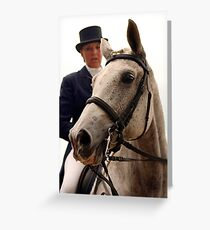 Dressage Portrait - Saratoga, Ny 2007 Greeting Card