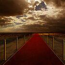 Red carpet on desert by jordygraph