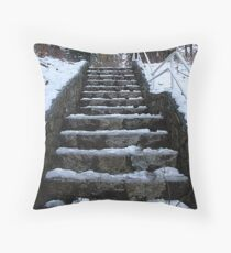 Steps at Cole's Bay Throw Pillow