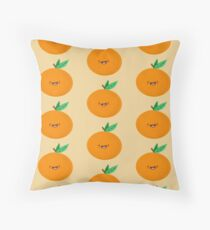 Happy Clementine Throw Pillow