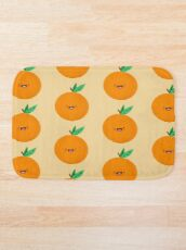 Happy Clementine Bath Mat