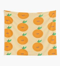 Happy Clementine Wall Tapestry