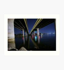 mission bay bridge Art Print