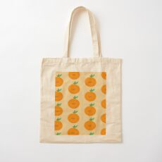 Happy Clementine Cotton Tote Bag