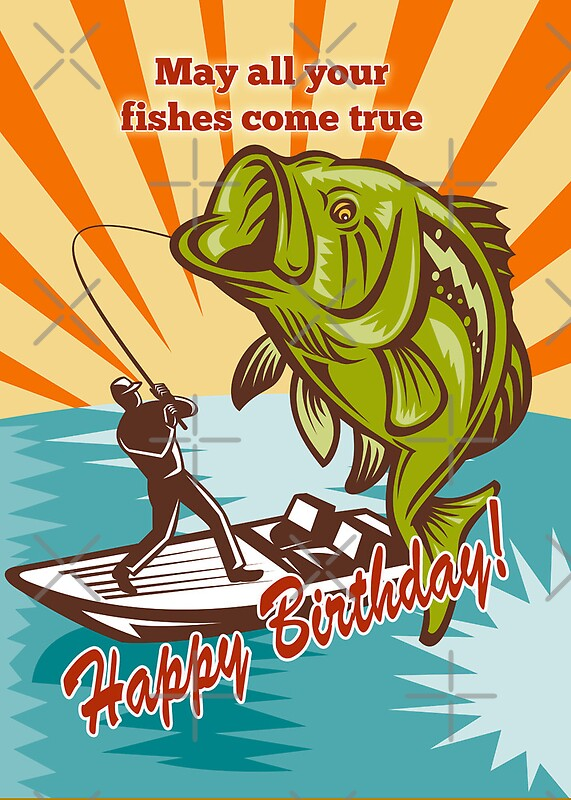 Fly Fishing Greeting Cards – Fish Birthday Card