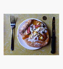 Dessert Pizza Foresta Bianca Photographic Print