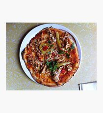 Pizza Verano Aves Photographic Print