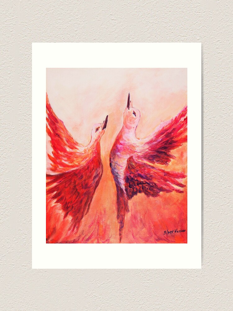 Alternate view of Towards Heaven - Acrylic by Sher Nasser Art Print