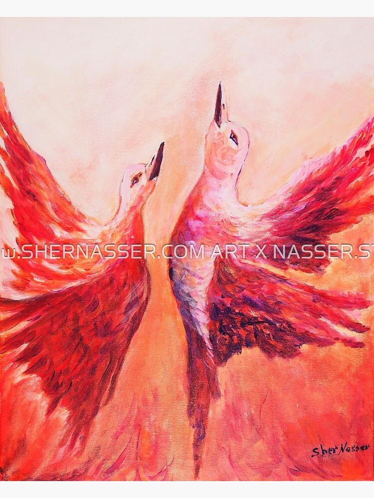 Towards Heaven - Acrylic by Sher Nasser by shernasser