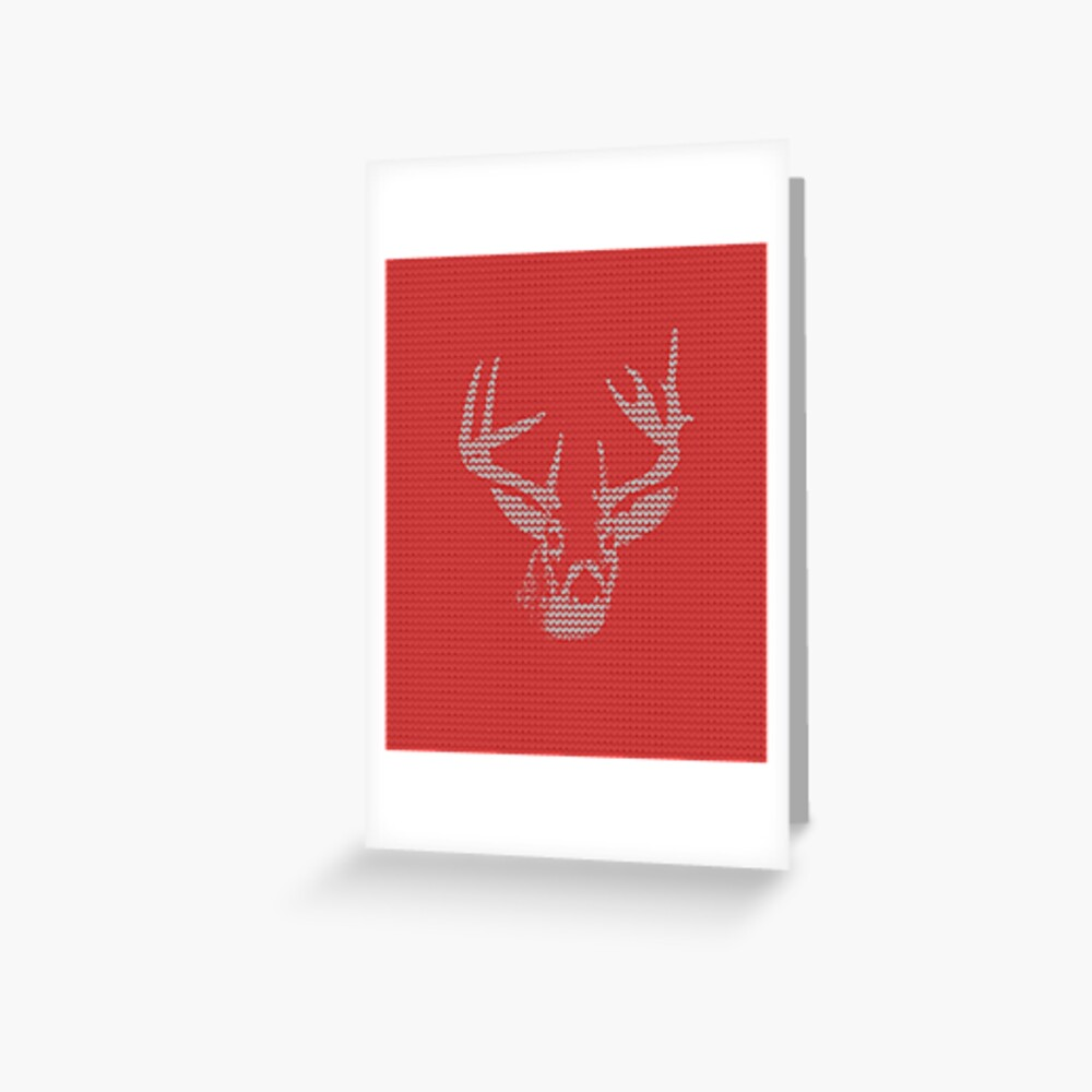Knitted Reindeer Sweater Greeting Card