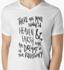 more things in heaven & earth Mens V-Neck T-Shirt