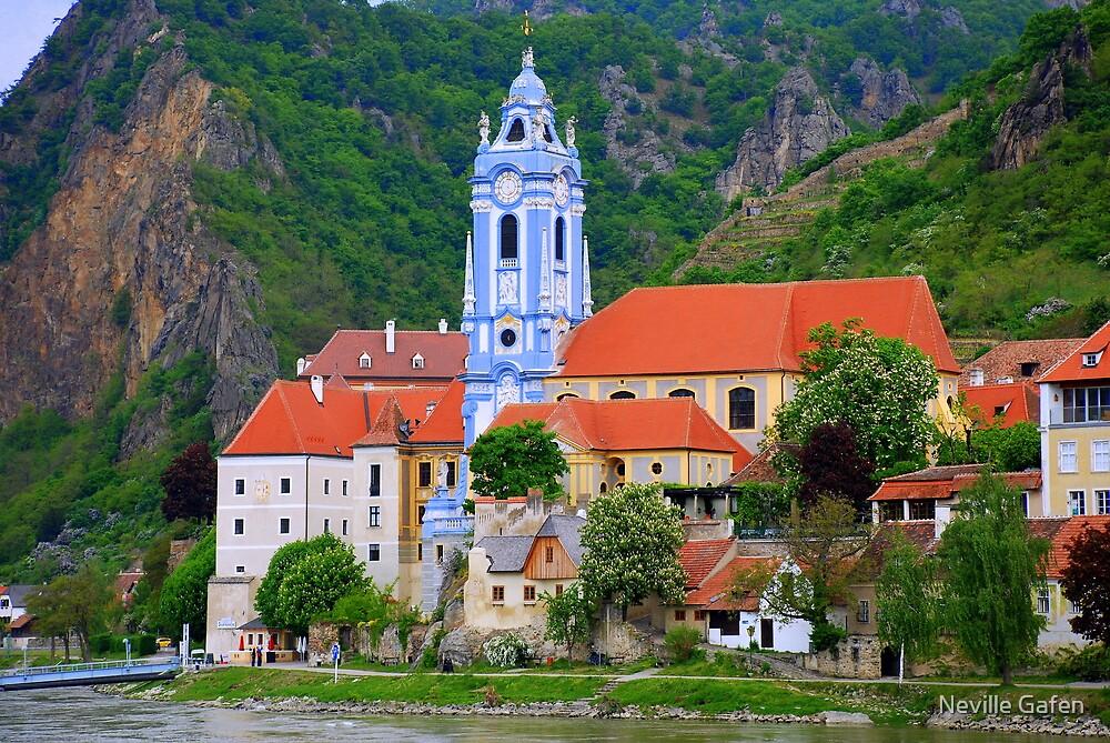 Danube River Wachau Valley Austria by Neville Gafen