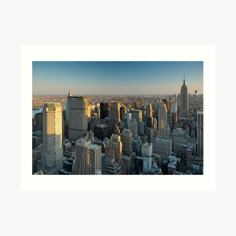 Sud de Manhattan et l'Empire State Building Impression artistique