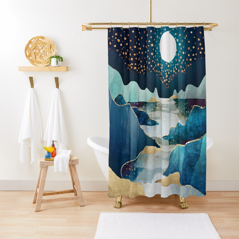 Moon Glow Shower Curtain