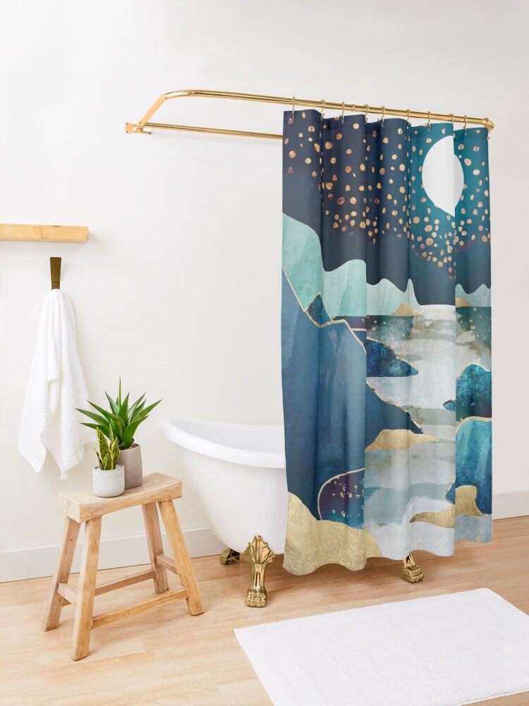Alternate view of Moon Glow Shower Curtain