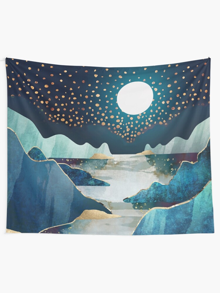 Alternate view of Moon Glow Tapestry