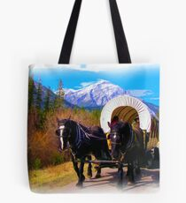 Modern Chuckwagon - Digital Art Tote Bag