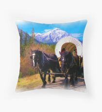 Modern Chuckwagon - Digital Art Throw Pillow