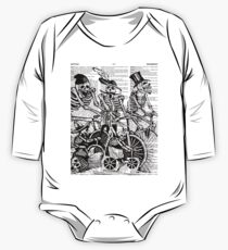 Calavera Cyclists | Black and White Kids Clothes
