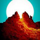 The glowing autumn peaks by steveswade