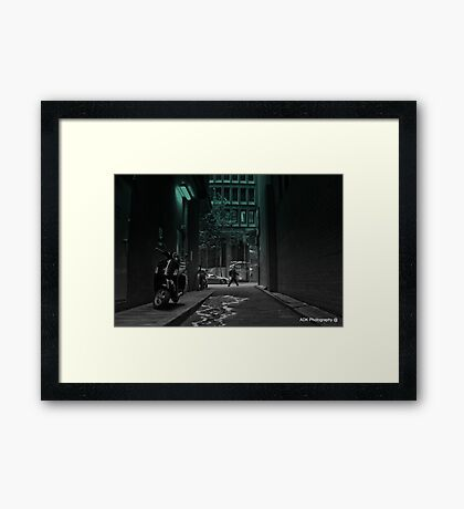 The Lonely Laneway Framed Print