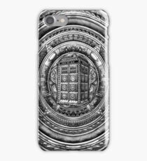 Aztec Time Lord Black and white Pencils sketch Art iPhone Case/Skin