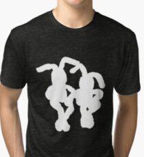 """White Bunnies"" Clothing Tri-blend T-Shirt"
