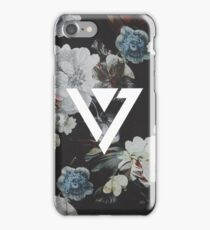 Black Floral Seventeen Kpop iPhone and Samsung Case iPhone Case/Skin