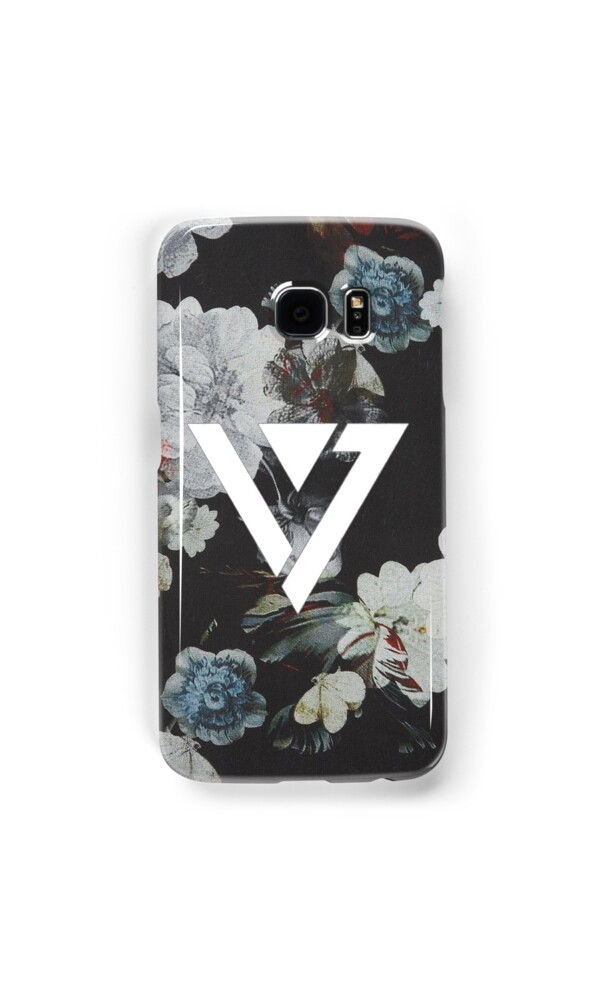 kpop iphone cases quot black floral seventeen kpop iphone and samsung 12558