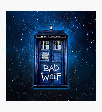 Space And Time traveller Wolf Photographic Print