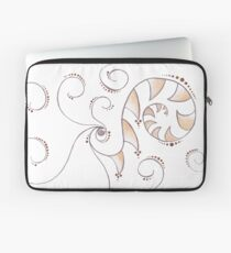 Ammonite Sprite | Inked Fossil Tribal Tattoo Landscape Laptop Sleeve