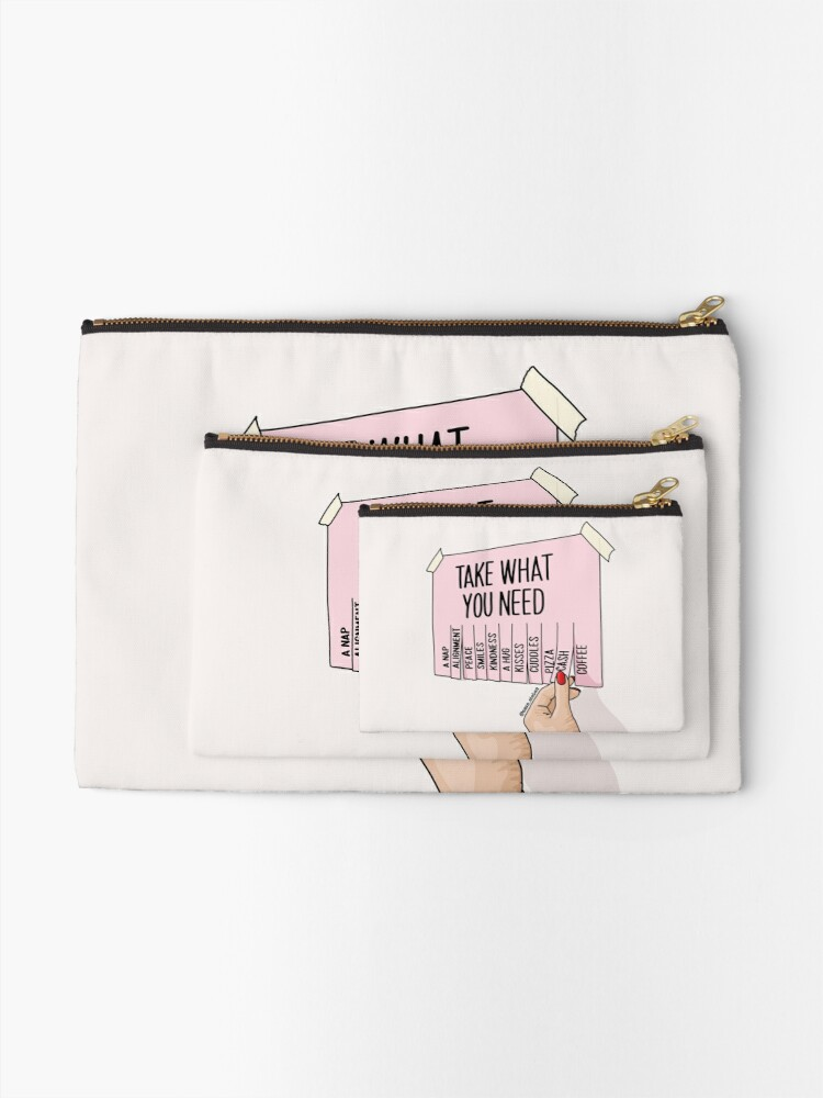 Alternate view of Take what you need by Sasa Elebea Zipper Pouch