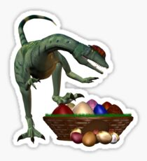 A Dino`s easter eggs Sticker
