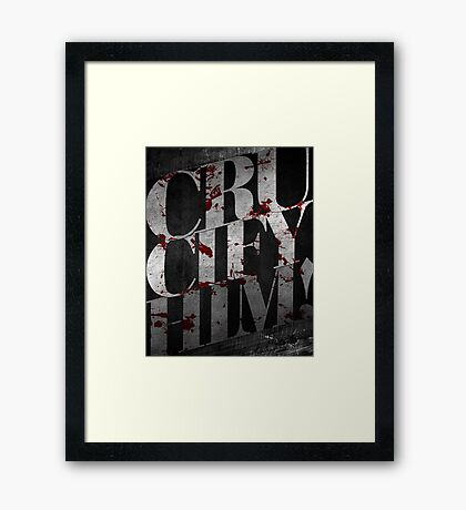 Word: Crucifixion (Crucify Him) Framed Print