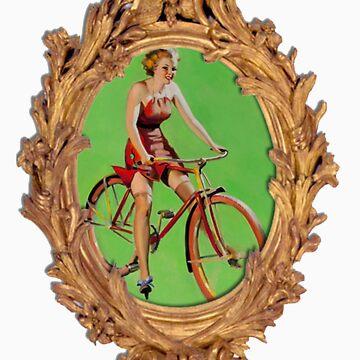 Old school Bike Girl in Frame by Low718