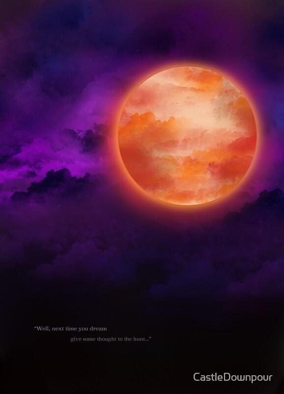 Quot Bloodborne Blood Moon Quot Posters By Castledownpour Redbubble