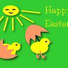 Green awareness Easter chicken Card by patjila