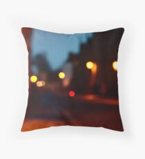 Holywell Street, Oxford in dusk Throw Pillow