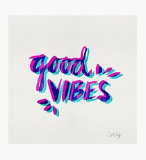 Good Vibes – Magenta & Cyan Photographic Print