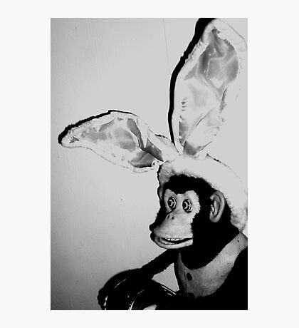 03-30-11: Musical Jolly Chimp as Easter Bunny Photographic Print