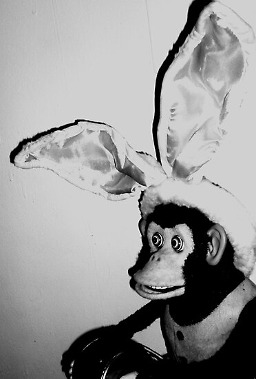 03-30-11: Musical Jolly Chimp as Easter Bunny by Margaret Bryant