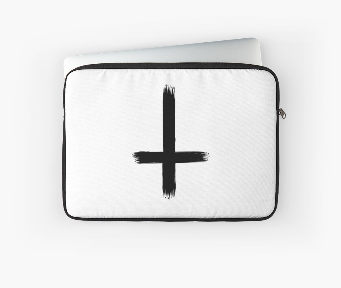 Upside down cross laptop sleeves by nodus redbubble upside down cross by nodus buycottarizona