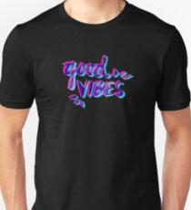 Good Vibes – Magenta & Cyan T-Shirt