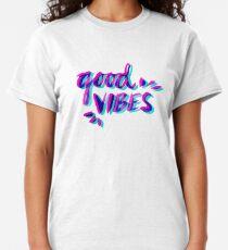 Good Vibes – Magenta & Cyan Classic T-Shirt