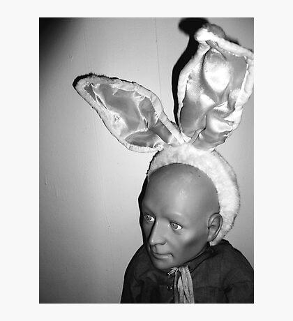 Hugo as Easter Bunny Photographic Print