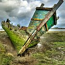 Wreck on Fleetwood Marsh by Stephen Liptrot