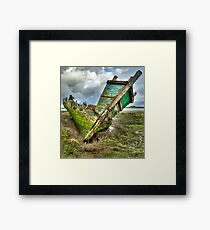 Wreck on Fleetwood Marsh Framed Print