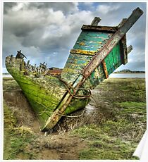 Wreck on Fleetwood Marsh Poster