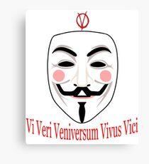 Vi Veri Veniversum Vivus Vici Canvas Print